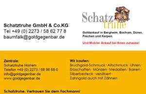 Sie wollen Ihr Gold verkaufen? Dann rufen Sie uns an unter 02273/ 58 62 77 8. Gerne machen wir mit Ihnen einen Termin zum Goldankauf aus.