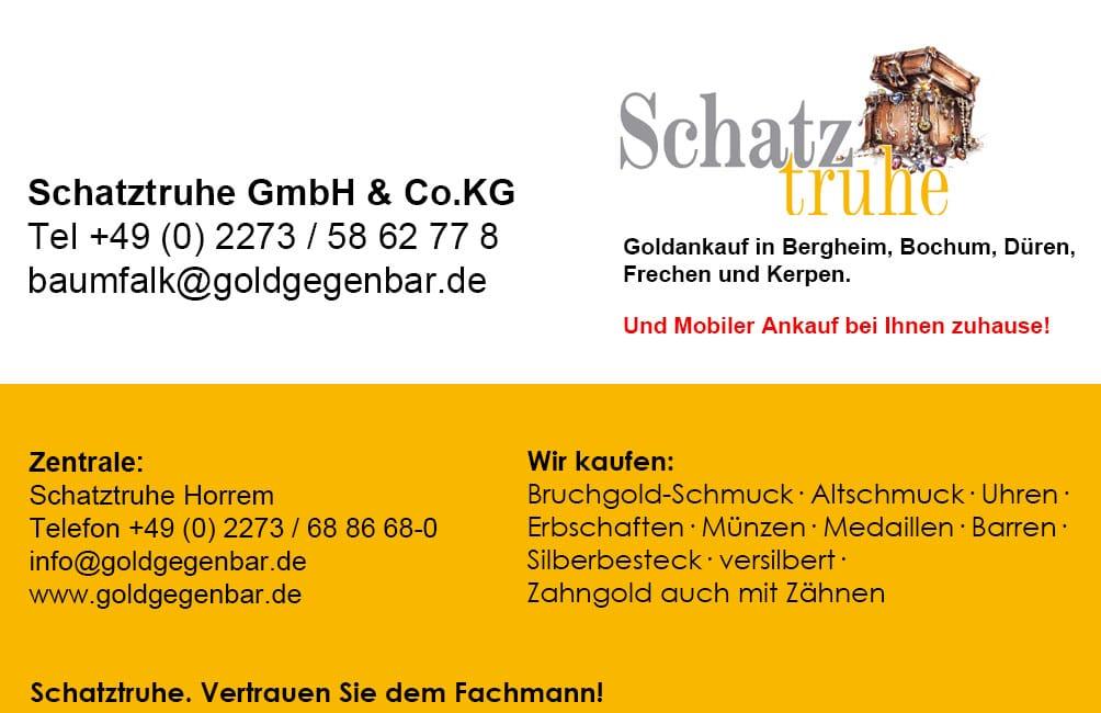 Barrenankauf Barren Verkaufen Schatztruhe Gmbh Cokg