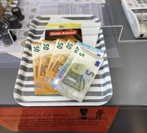 Gold verkaufen gegen Bargeld