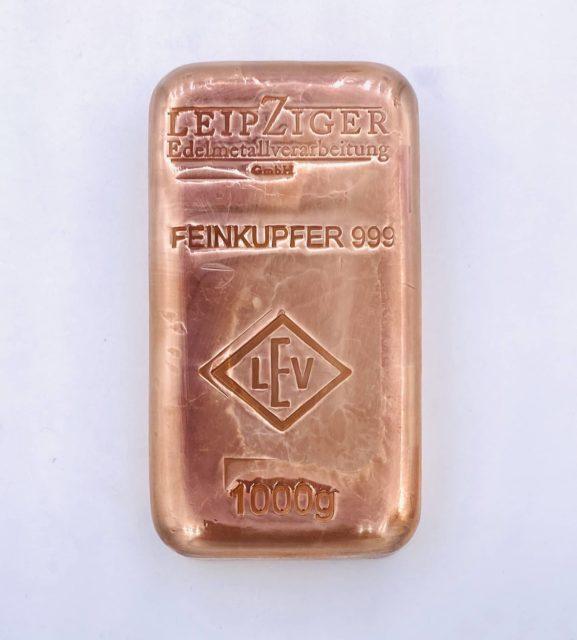 Kupferbarren verkaufen