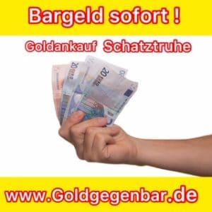 Bargeld sofort Goldankauf