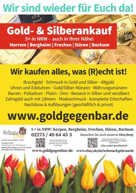 Gold Ankauf Silber Ankauf Wir sind wieder da