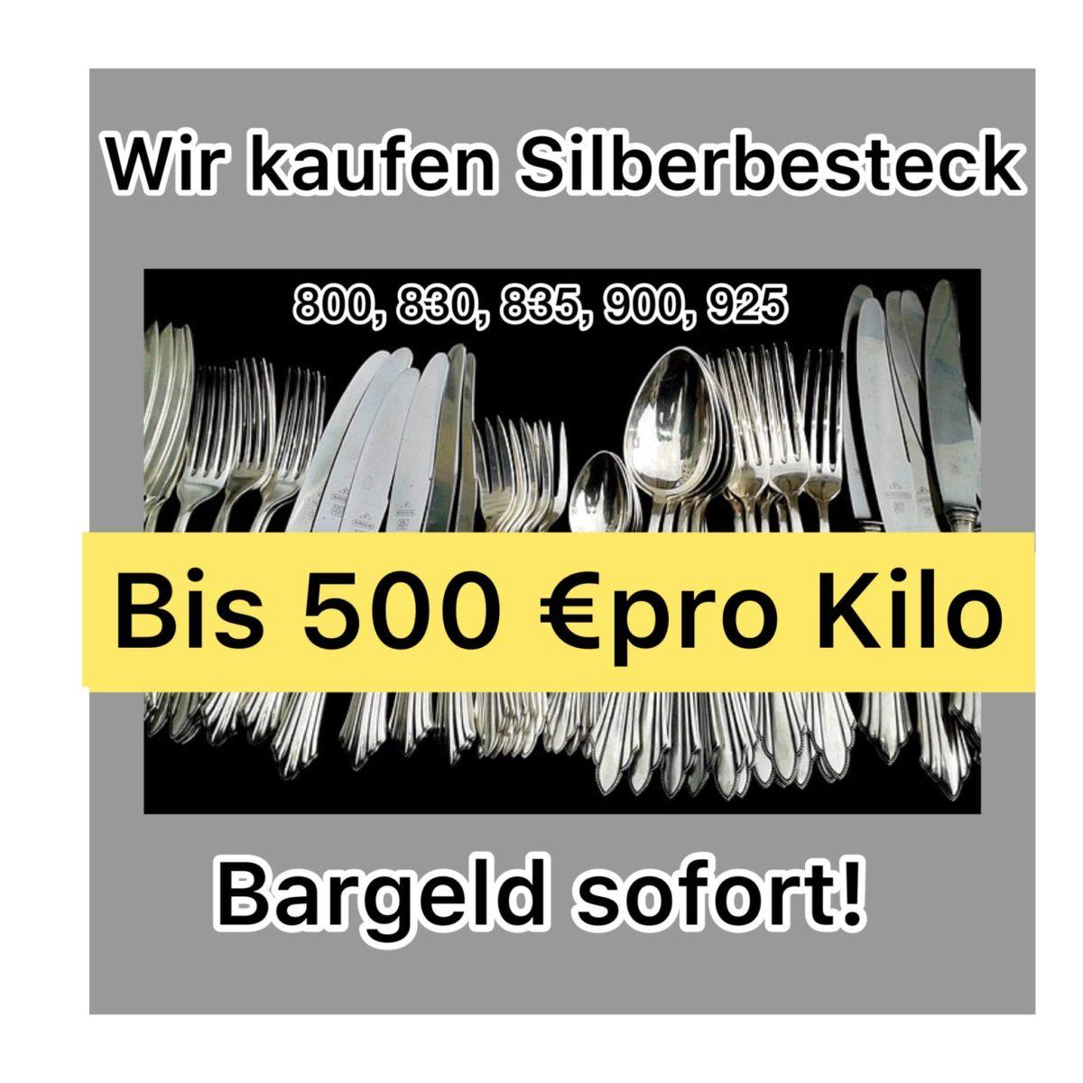 Silberbesteck verkaufen 500€ pro kg