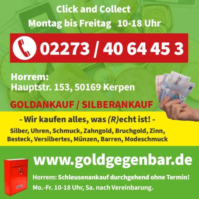 click & collect Goldankauf Kerpen